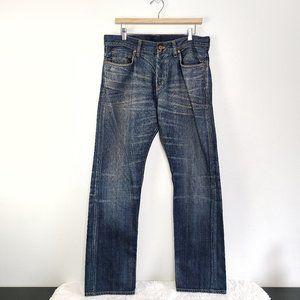 Denim & Co Med. Wash Regular straight jeans